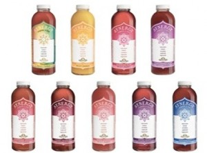 A few of the 18 flavors in Synergy Kombucha product line.