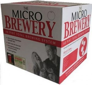 A box kit for creating your own microbrewery.