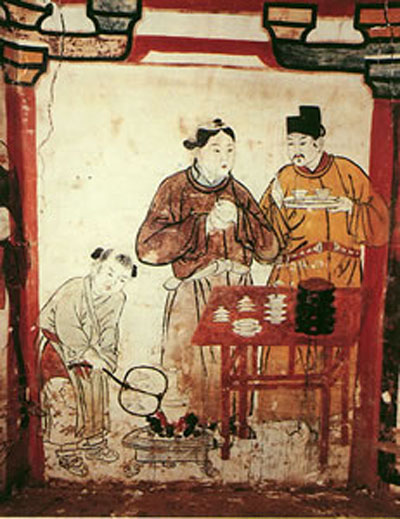 Chinese Emperor Drinking Tea