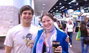 Hannah Crum, The Kombucha Mamma, with David Karr of Guyaki at Natural Products Expo West 2011