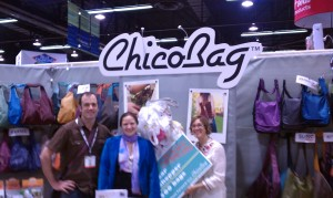 Hannah Crum, The Kombucha Mamma, with Jenna Otwell and Andy Keller of Chico Bag at Natural Products Expo West 2011