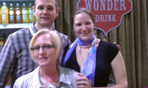 Hannah Crum, The Kombucha Mamma, with Joan Turner and Paul Sposato of Wonder Drink Kombucha at Natural Products Expo West 2011