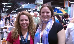 Hannah Crum, The Kombucha Mamma, with Zhena Muzyka of Zhena's Gypsy Tea at Natural Products Expo West 2011