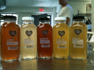 Flavors of House Kombucha include Rose Black, Vanilla Orchid, Lavender Green, Jasmine Green and Sun Blossom