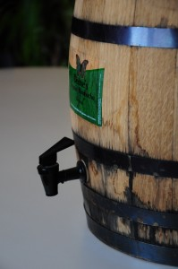 5 Gallon Oak Barrel Spigot