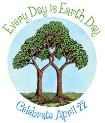 3 trees intertwine in a symbol of love and harmony on Earth Day April 22