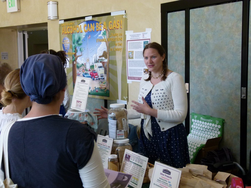 Hannah Crum, The Kombucha Mamma of Kombucha Kamp, works her booth at the Freestone Fermentation Festival 5.21.11