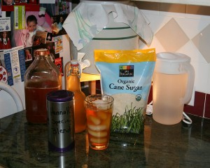 Kelly Villareal's Kombucha Palmer and Continuous Brew Kombucha Set Up