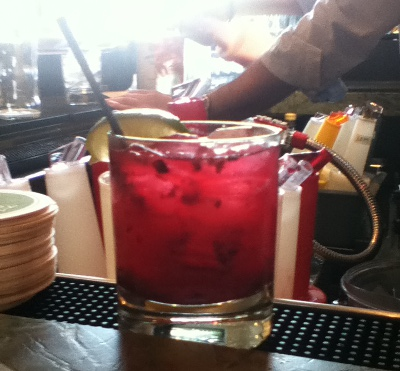 Kombucha Margarita on the bar at Mill Valley Kitchen