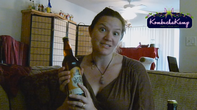 Hannah Crum explains Unity Vibration Kombucha Beer in Ginger Flavor