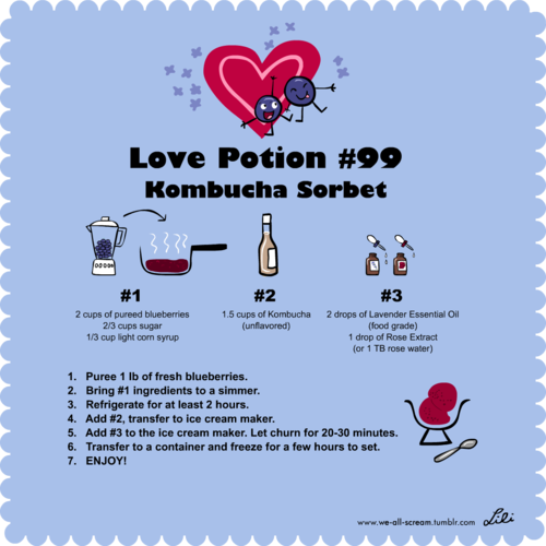 Love Potion #99 Kombucha Sorbet Recipe from Lili Chin & Hannah Crum Kombucha Kamp