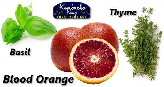 Blood Orange Kombucha Recipes with Thyme and Basil
