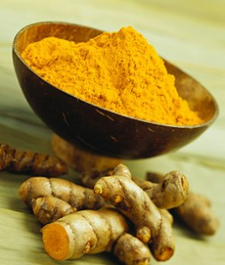 Turmeric in both powdered and whole form