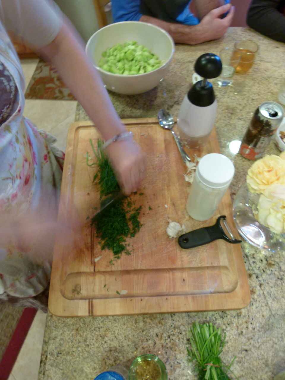 nourished kitchen kefir cucumber salad recipe ingredients in action - Nourished Kitchen