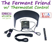 Learn more about the Kombucha Mamma Ferment Friend Heating System with Thermostat, part of the family of KKamp Kombucha Heating Mats