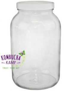 One Gallon Glass Kombucha Jar, also good for Kefir, JUN or other ferments from KKamp