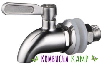 Stainless Steel spigots from KKamp fit most every Kombucha Container, offer a great flow rate and are non-corrosive