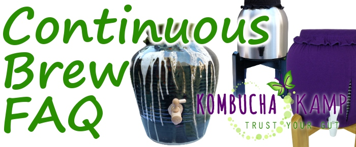 Continuous Brew Kombucha FAQ from KKamp