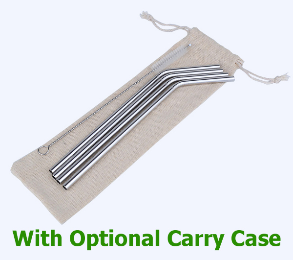 Stainless Steel Straws with Carry Case from KKamp