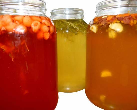 Water Kefir vs Kombucha when flavored like this - who can say?!